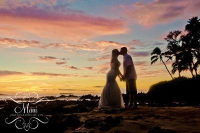 maui photography of bride and groom at their wedding