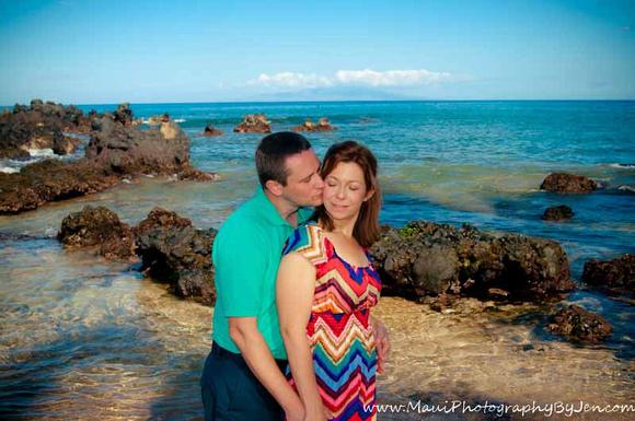 Maui portrait photographer with couple