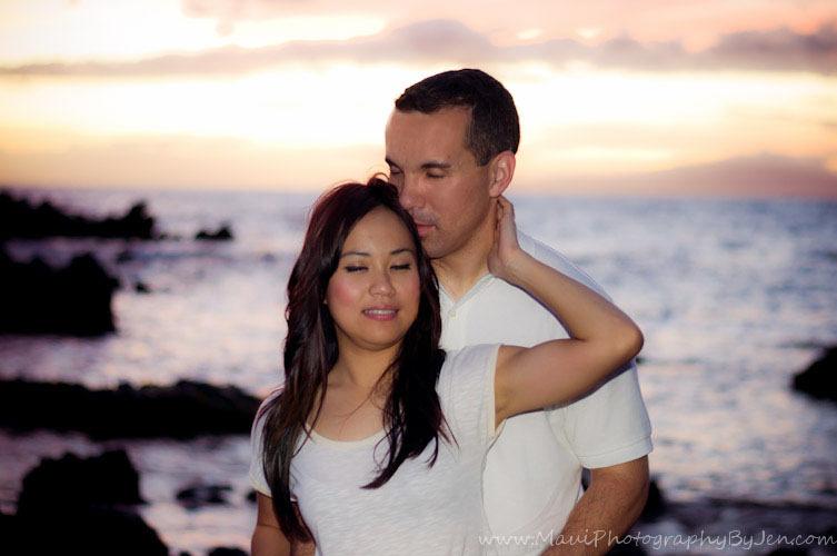 couples portrait by maui photographer