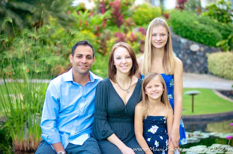 family portraits maui at the fairmont