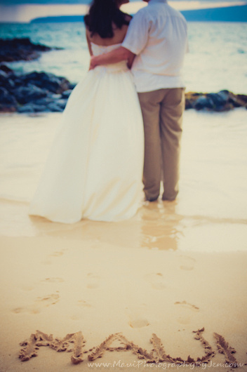 maui photographers at wedding