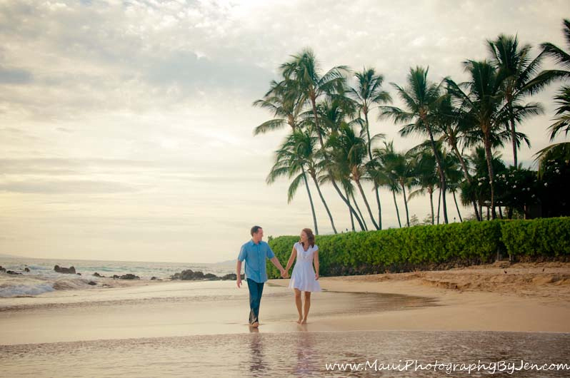 photographers in maui with couple on the beach