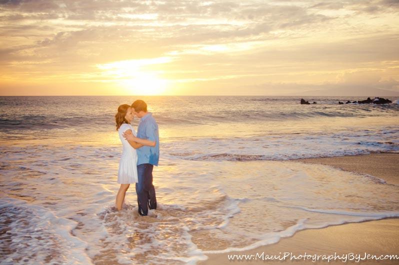 maui photography of engaged couple