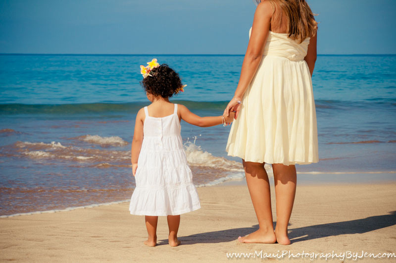 maui photography with mother and daughter