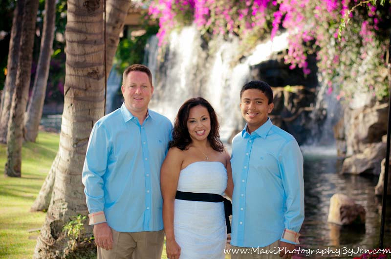 maui photographers with family at the grand wailea
