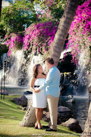 maui photographer with couple at the grand wailea