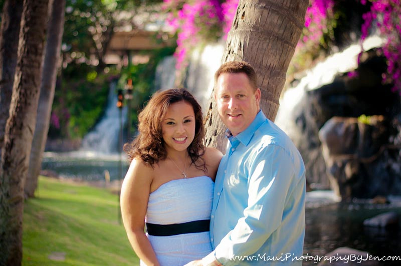 maui photographer at the grand wailea with couple