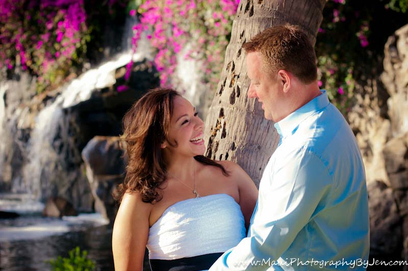 photographer in maui at the grand wailea with couple