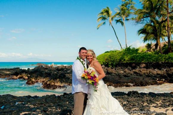 maui wedding photography secret beach location