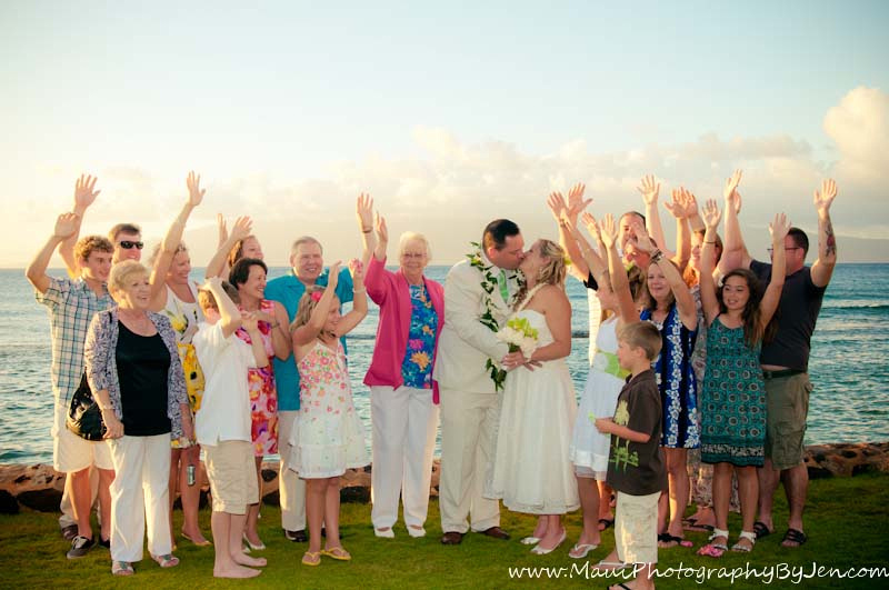 maui wedding photography with family