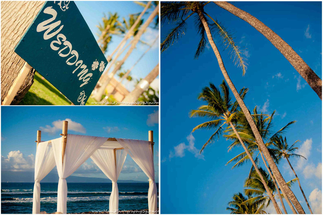 maui wedding photography details location props