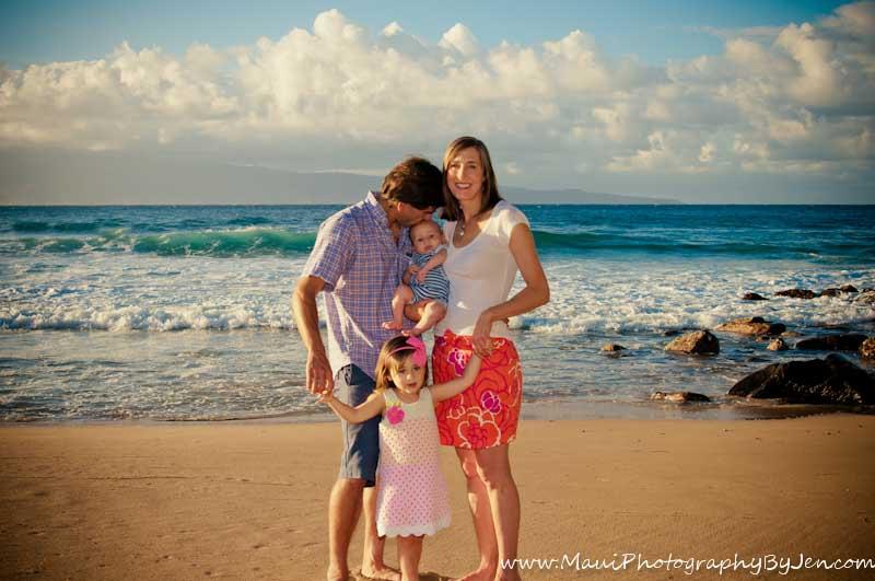 maui family photographers on the beach at lahaina