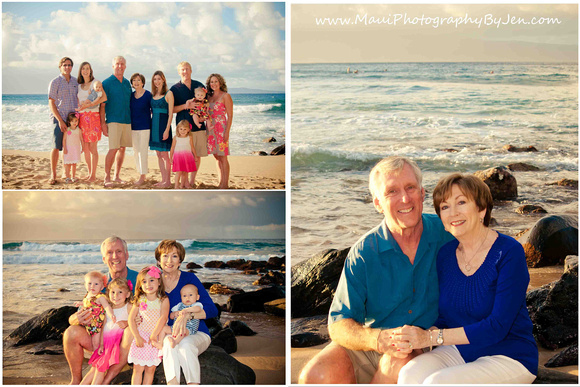 photography in maui of family reunion big