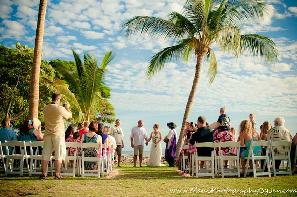 maui wedding at olowalu plantation by photographer