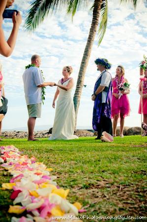maui wedding photographers at olowalu plantation