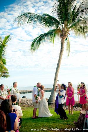 maui wedding photography at olowalu plantation