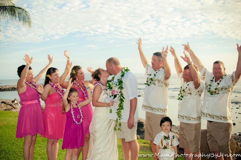 maui wedding party at olowalu