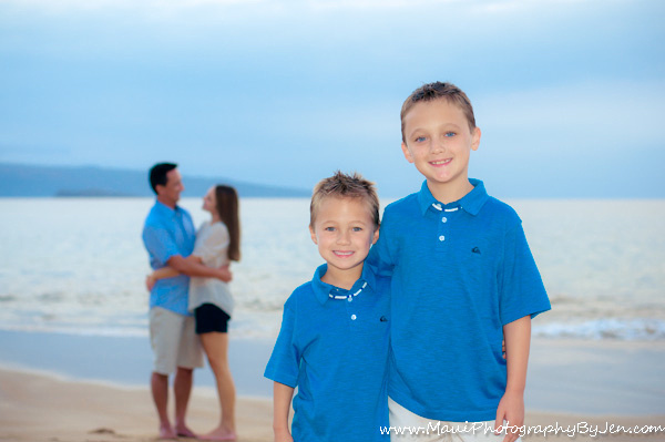 maui family photography with kids