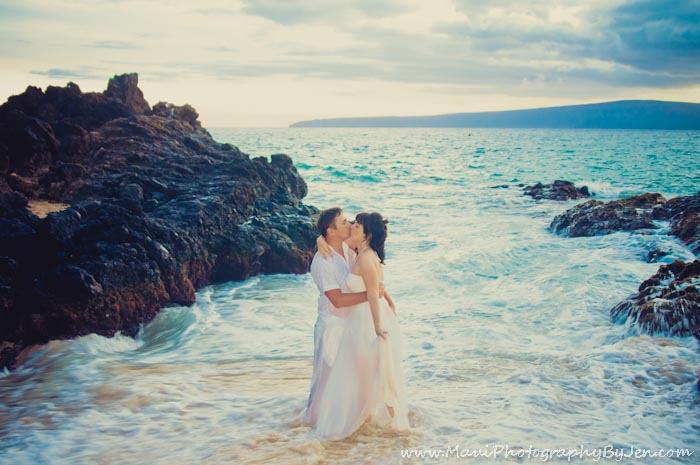 maui photographers in kapalua for honeymoon couple