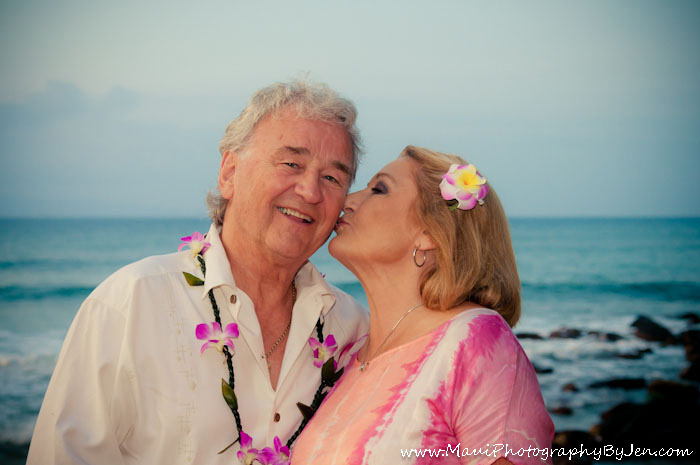 maui photography 50th anniversary couple