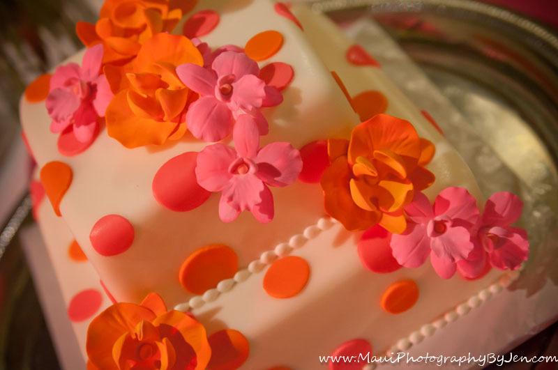 maui photographer wedding cake