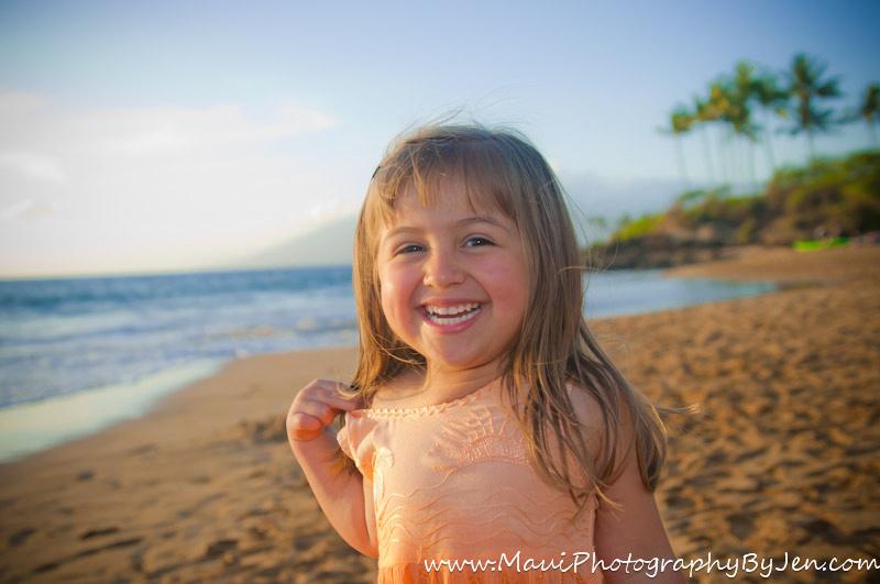 maui photography child at makena