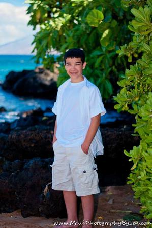 maui photography with a teenage boy