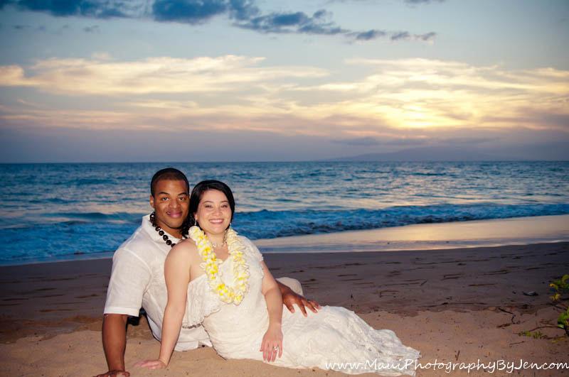 maui wedding photography with couple portrait