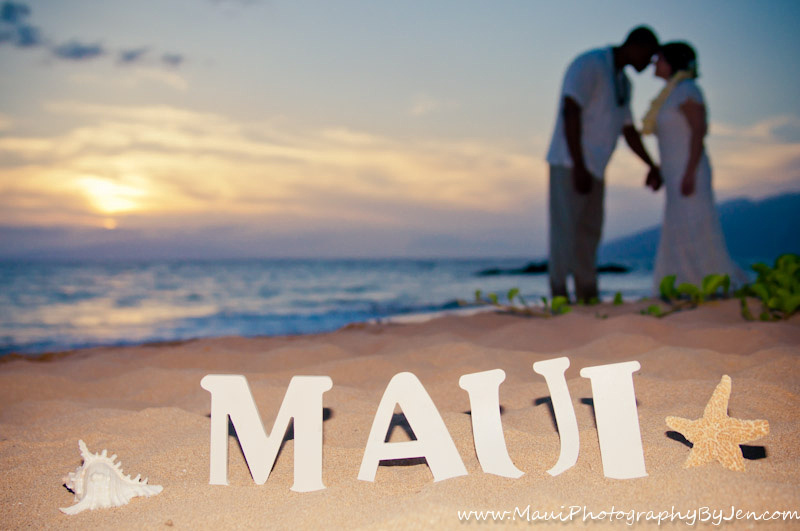 maui wedding photography creative with props