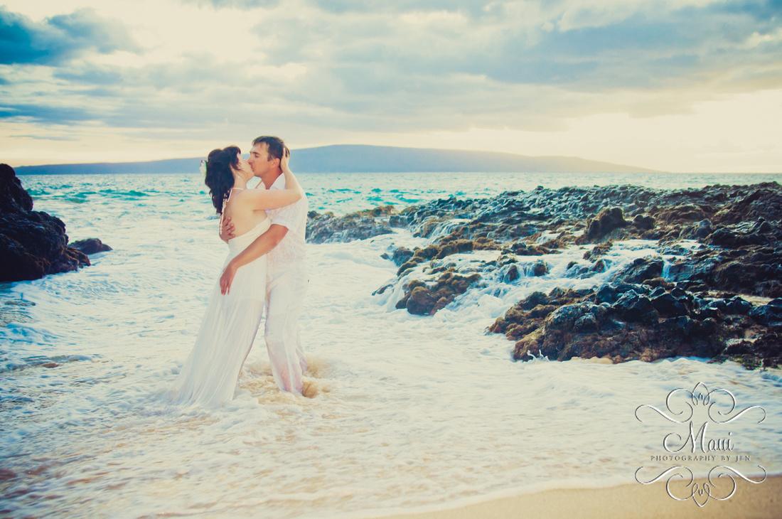 Maui Photographers with Honeymoon Couple
