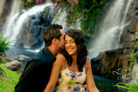 Maui Photography Couple Waterfalls Grand Wailea Resort