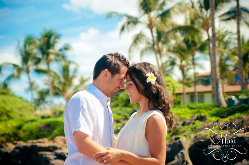 Maui Photography Couple Waterfalls Grand Wailea Resort