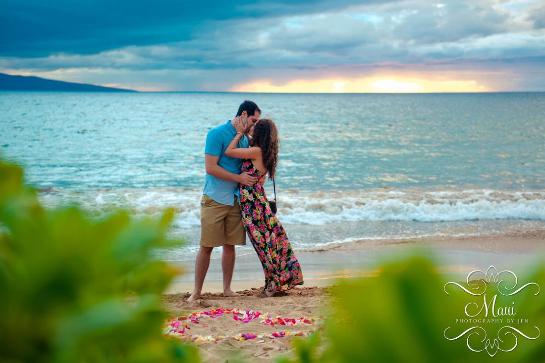 Maui Photography Proposal Engagement Lahaina Beach