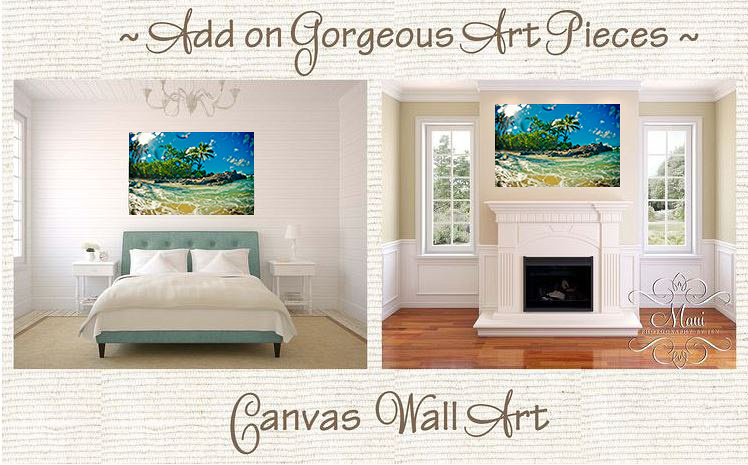 maui photographers canvas print or metal of maui beach ocean