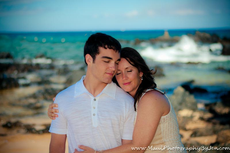 maui family photographers capture special moment between mother and son