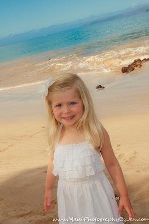 young girl at maui beach