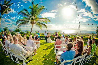 photographers in maui with beach wedding
