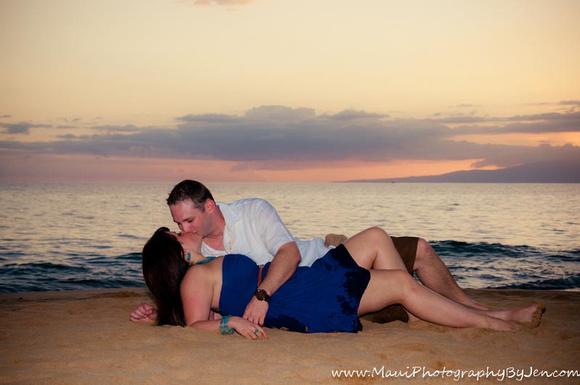 maui couples romantic sunset by photographer