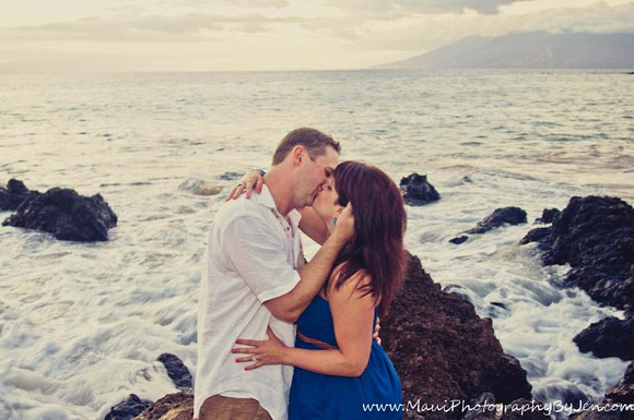 honemoon maui of couple in love by maui photographer