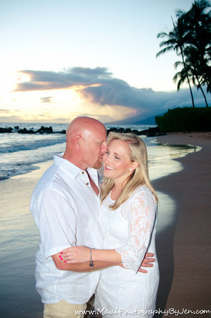 couple in maui photography at sunset