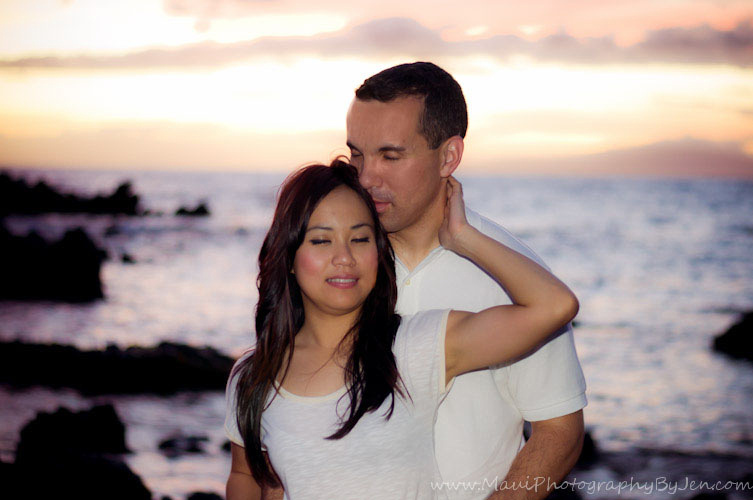 couples portrait by maui photographer
