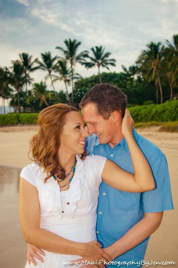 maui beach photographer on honeymoon