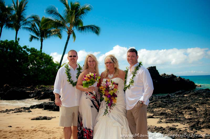 maui wedding at makena secret beach