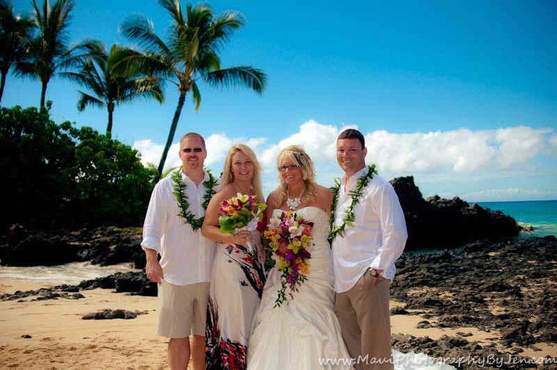 maui wedding at makena secret beach