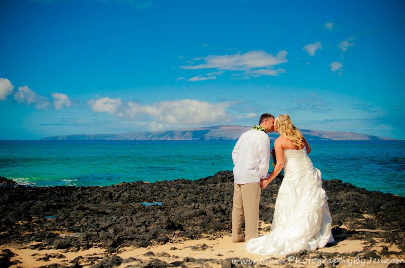 maui photographers with wedding in wailea