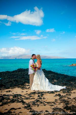 maui wedding photographers in napili