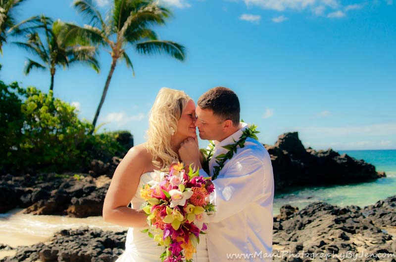 maui wedding photographer on the best beach