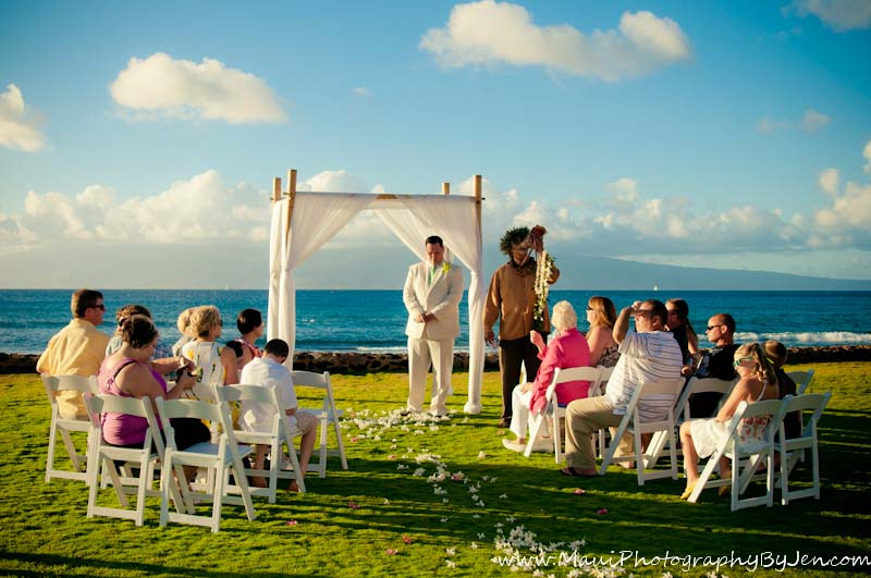 maui wedding on the beach by photographer