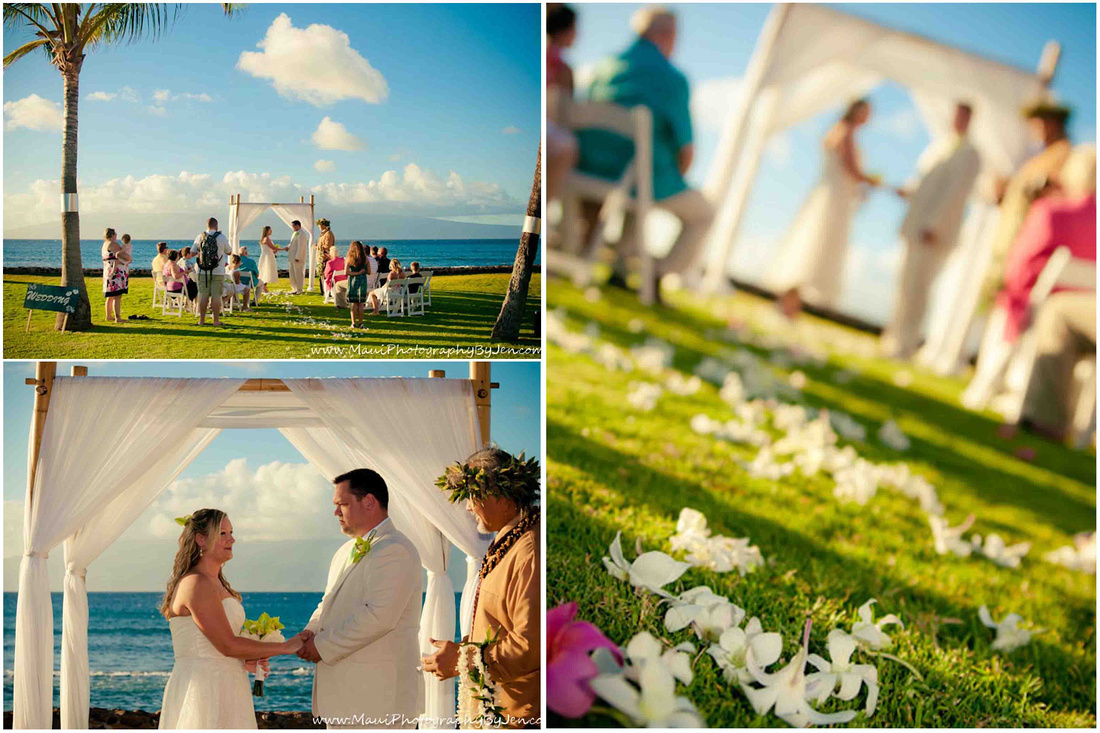 maui wedding photographer in wailea resort