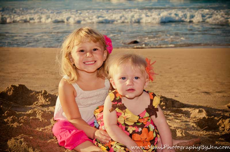 maui child photographer with kids